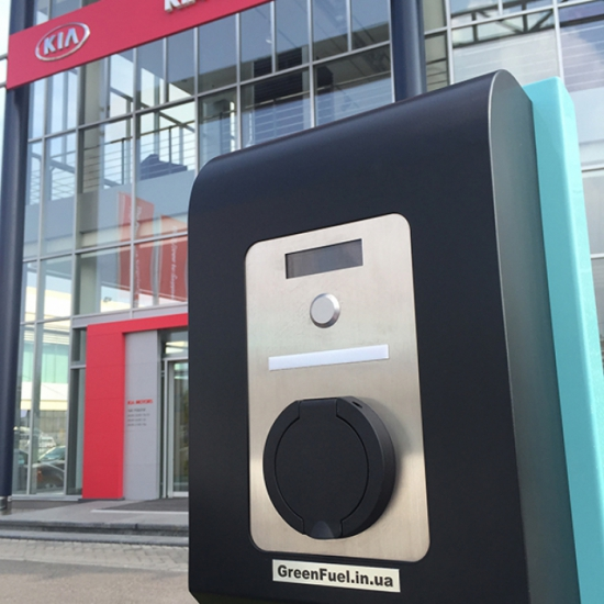 Commercial charging station for electric vehicles GreenFuel S32A